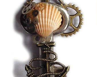 steampunk key Schlüssel pendant necklace little pirate