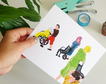 Fat crayons, illustration, print, drawing, Ecolabel, Fine Art Print paper