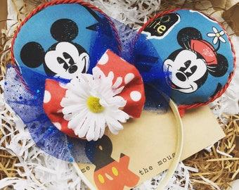 Disney ears, minnie ears, mickey ears, Minnie Mouse, Mickey Mouse inspired ears UK