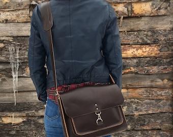 Leather satchel, Leather Crossbody Bag, Leather messenger bag, Leather shoulder bag, Courier Leather satchel, crossbody satchel, 13 laptop