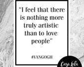 Van Gogh Quote Print, Wal...