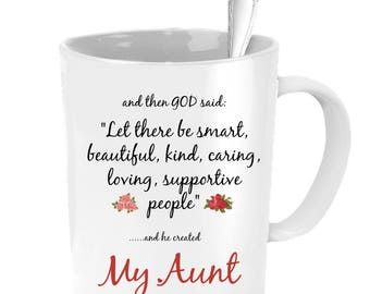 Aunt Mug, Aunt Wedding Gift, Aunt Coffee Mug, Aunt Gift, Gifts For Aunts, Aunt Necklace, Personalized Wedding Gift, Custom Wedding Favors