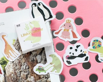 45 Pieces Cute Animals Stickers