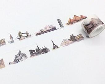 Famous Landmarks Washi Tape