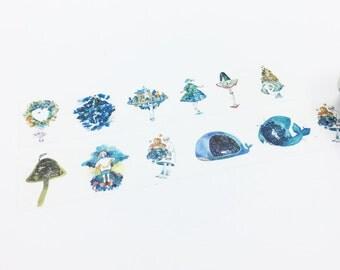 Blue Girls Washi Tape - Fantasy Series