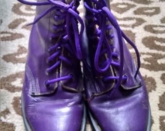 Vintage 90s Purple Doc Marten 8-hole Boots