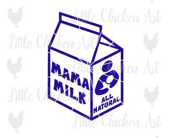 Mama Milk Carton Cut File / Clip Art, Breastfeeding Advocacy, Nursing, Silhouette, Cricut, Brother Scan n Cut, SVG file, JPEG, PNG, Cameo