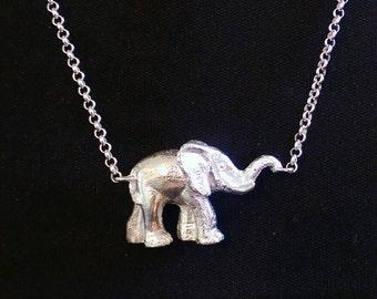 Elephant on chain pendant