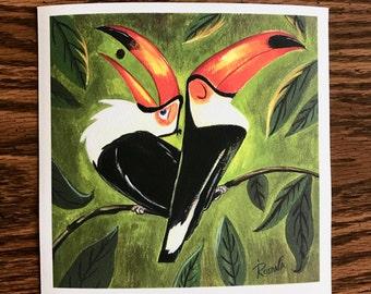 Toucans 6x6 print
