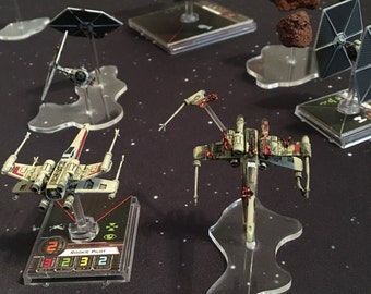 Miniature Space Ship Debris - Designed for Star Wars: X-Wing