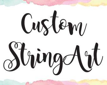 Custom StringArt Personalize Name Art Elegant Gift