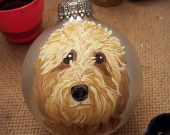 Goldendoodle Custom Hand Painted Ornament