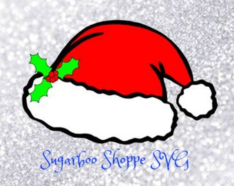 Santa Hat svg / Christmas svg / Holly / Santa Hat / Instant Download / ZIP file with svg, dxf, pdf, png, and jpg files