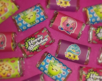 Shopkins Miniature Candy Bar Wrappers