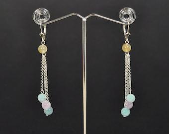 Morganite and aquamarine earrings