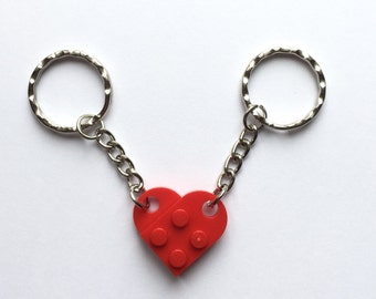 LEGO® Red Heart Couples Keyring - Perfect Valentines Gift For Him and Valentines Gift For Her UK Free Postage
