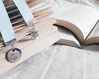 CLEARANCE!! || Frozen Bookmark || Elsa Bookmark || Snowflake Bookmark || Disney Bookmark || Let It Go bookmark || Ribbon Bookmark
