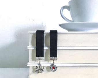 The Night Circus Bookmark || YA bookmark || Ribbon Bookmark || Black bookmark