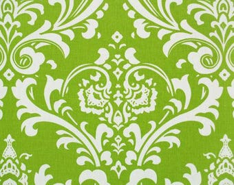 Premier Prints Ozbourne Chartreuse Green Damask Fabric by the Yard