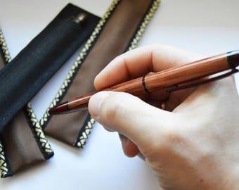 Handmade wooden pen