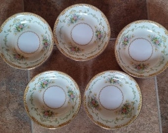 Vintage Noritake M China set of 5 Fruit/Berry Bowl