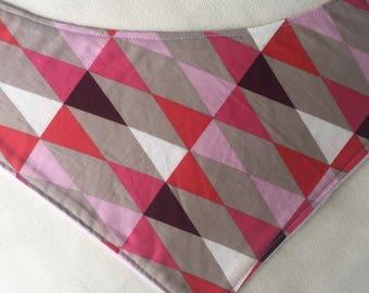 Geometric Pinks Bandana Bib