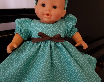 Dress, Pantaloons and Headband  for  14 inch Corolle doll