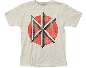 Dead Kennedys Distressed Logo Soft 30/1 Men's Cotton Tee (DK22) Vintage White