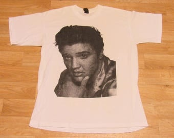 Vintage Elvis Presely shirt 1980s 80's  Rockabilly Rock and Roll Anvil