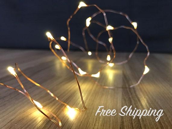 Firefly String Lights Copper : Copper String Lights Mason Jar Lights Firefly Lights