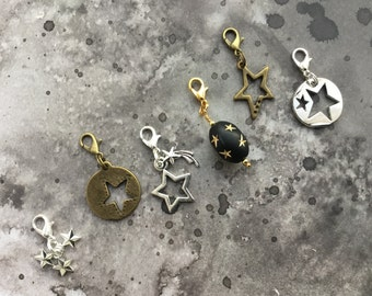 Wish on a star charm set pendant zipper pull