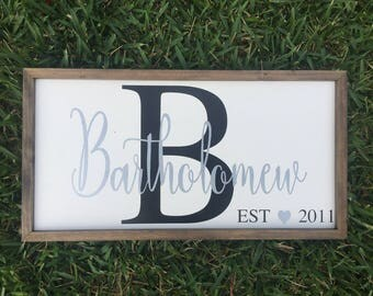 Personalized Anniversary/Family Established Wooden Sign