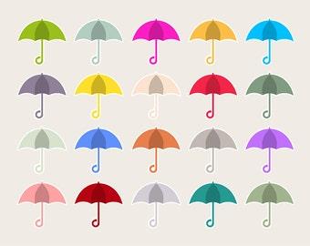 Umbrella Stickers, Umbrellas, Rainy Day Stickers, Rain Stickers, Rainy Stickers, Umbrella Planner Stickers, Weather, Inkwell Press // WTH001