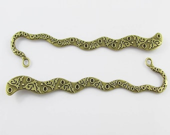 Bulk Vines Squiggley Bookmark 122mm Antique Bronze Suit Beading Select Qty