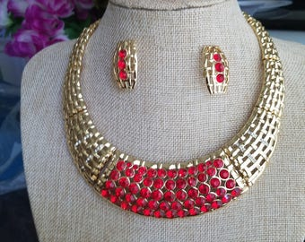 Dubai Gold platted Jewelry Set