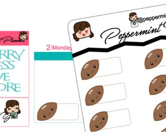 Football Functional Stickers, Planner Stickers, Stickers, {#14}