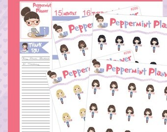 No Spend Girl Planner Stickers #286