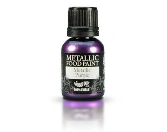 "Edible metallic paint 25ml ""Pearly Violet"" - Rainbow Dust"