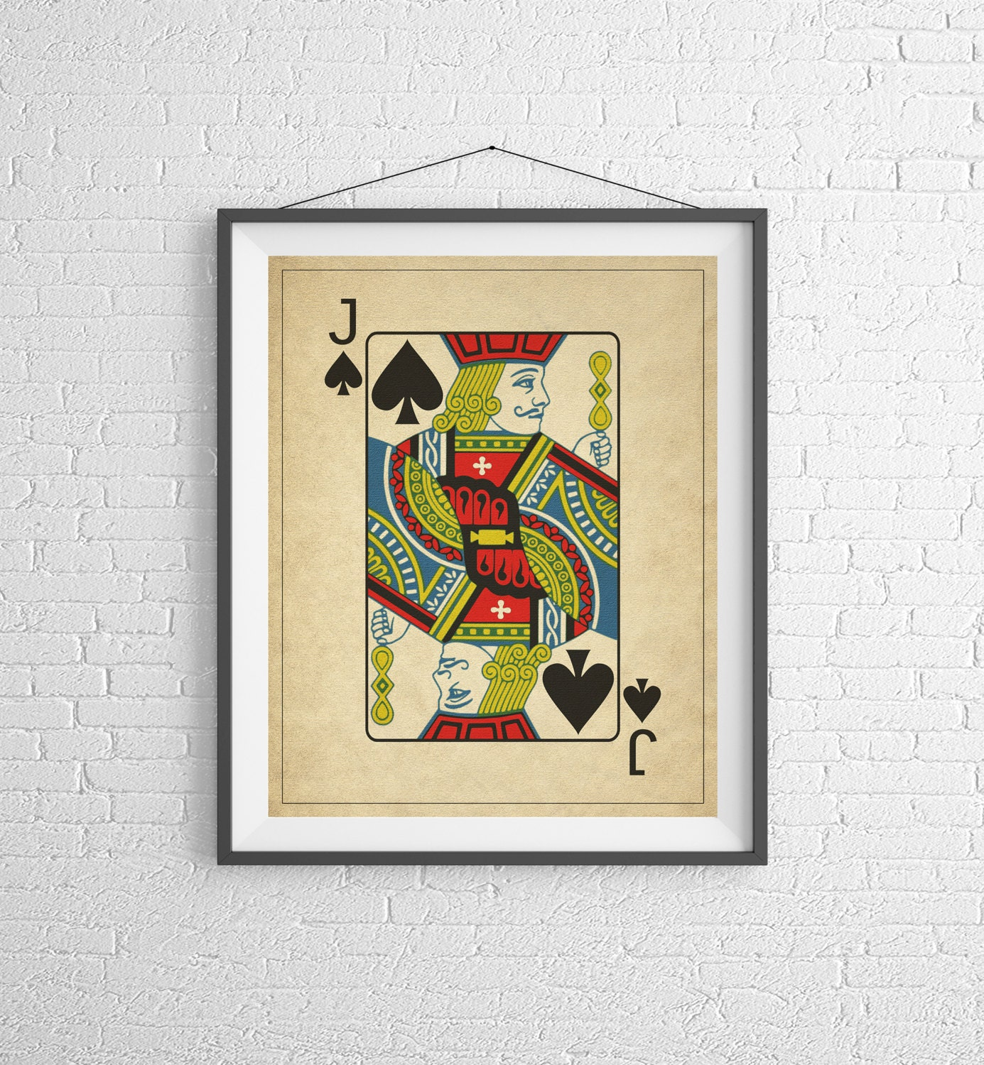 Jack of Spades, Playing Card Art, Game Room Decor, Game Room Art ...