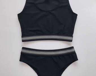 lingerie set - full black -