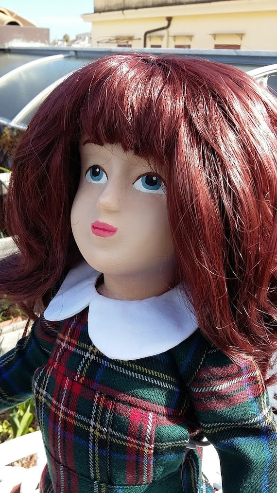 Zisa Doll with tartan dress