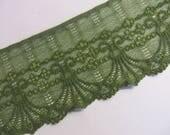 3m grüne elastische Spitze 9cm breit