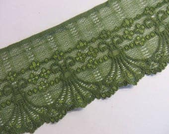 3m green stretch lace 9cm wide