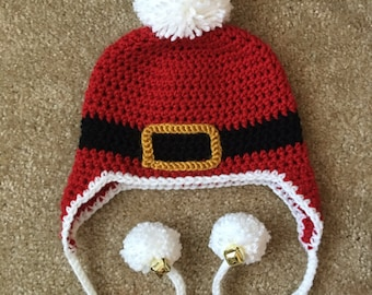 Newborn Santa Hat, Santa Crochet Hat, Newborn Christmas Hat, Baby Christmas Hat