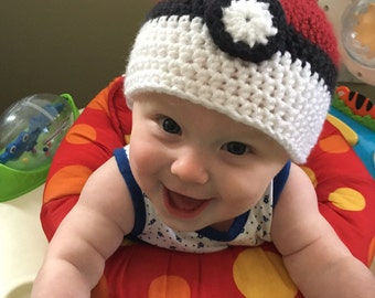 Pokemon Hat, Pokemon Beanie, Newborn Crochet Hat, Newborn Photoshoot, Baby Crochet Hat, Newborn Crochet Outfit, Baby Shower Gift, Newborn Ha
