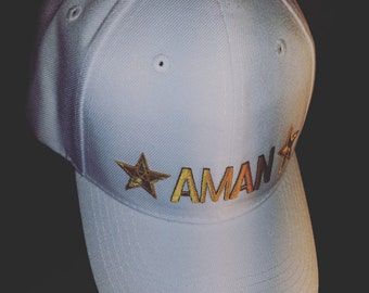 Custom Made Gold and White Hat