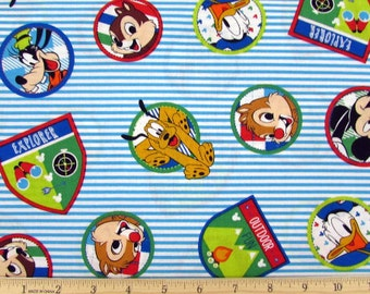 Disney Mickey and Friends Explorers Fabric From Springs Creative
