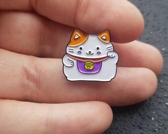 Cute Lucky Cat, Maneki Neko Pin