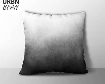 Gradient Pillow Cover, Clouds Minimalist Pillow Cover, Gradient pillow cover, Scandinavian Pillow Cover, Black and White, Modern