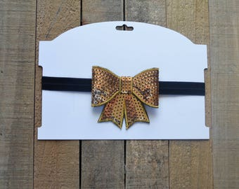 Sequin Gold and Black Baby Girl Headband